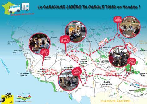 2019 caravane LTP-Vendee - carte etapesV2